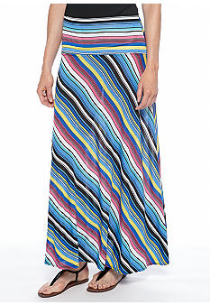 Sunny Leigh Modern Stripe Printed Maxi Skirt