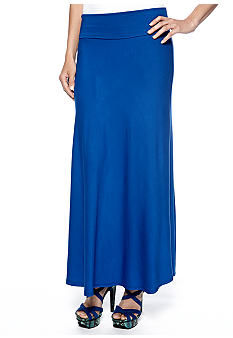 Sunny Leigh Fold Over Maxi Skirt