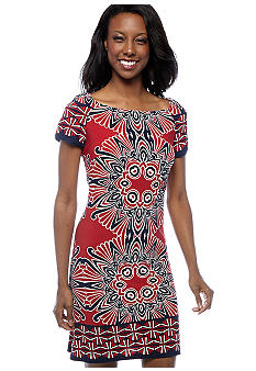 Sunny Leigh Border Print Dress Belk com from belk.com