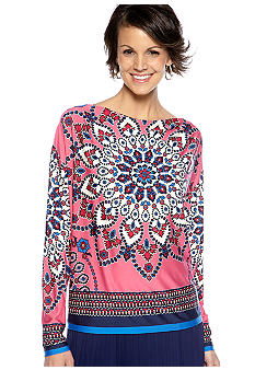Sunny Leigh Tibetan Tile Knit Top