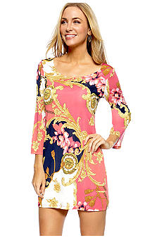 Sunny Leigh Bar-back Print Tunic/Dress