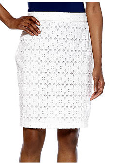Sunny Leigh Eyelet Pencil Skirt