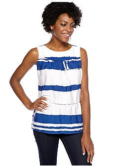 Sunny Leigh Sleeveless Striped Blouse