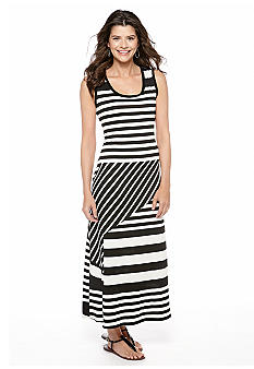 Sunny Leigh Mixed Stripe Maxi Dress