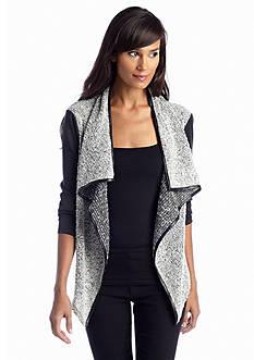 Sunny Leigh Boucle Asymmetrical Sweater