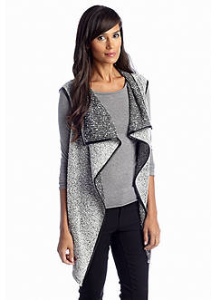 Sunny Leigh Waterfall Front Boucle Vest