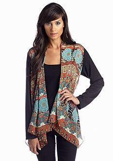 Sunny Leigh Tribal Open Front Cardigan