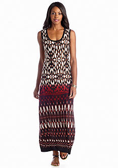 Sunny Leigh Sleeveless Waterloom Maxi Dress