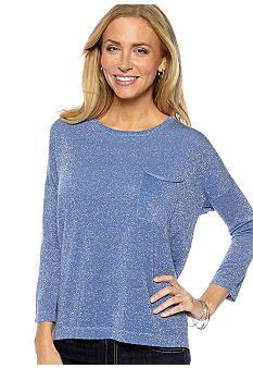 Sunny Leigh Pocket Lurex Pullover Sweater