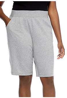 Kim Rogers Plus Size French Terry Bermuda Short