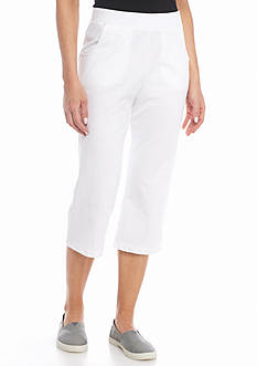 Kim Rogers Petite French Terry Capri