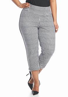 Kim Rogers Plus Size Stretch Jersey Printed Capri