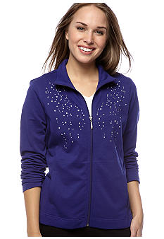 Kim Rogers® Petite Pearl and Rhinestone Embellished Active Jacket