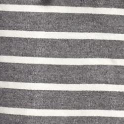 Kim Rogers Petite Activewear: Ivory/Charcoal Kim Rogers Petite Striped Hooded Jacket