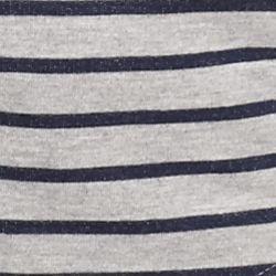 Kim Rogers Petite Activewear: Harbor Navy/Grey Kim Rogers Petite Striped Hooded Jacket