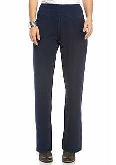 Kim Rogers Petite Straight Denim Pull On Pant