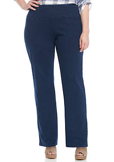 Kim Rogers Plus Size Stretch Jersey Tummy Control Pants