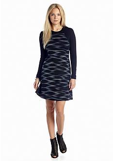 Kensie Streaked Spots Dress