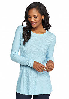 Kensie Textured Peplum Sweater