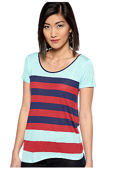 Kensie Stripe Knit Top
