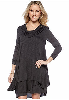 Kensie Cowl Neck Knit Dress