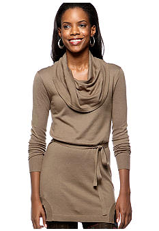 Kensie Cowl Neck Sweater Dress
