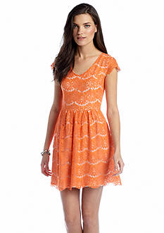 Kensie Cap Sleeve Lace Dress