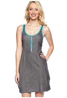 Kensie Draped Pocket French Terry Knit Dress