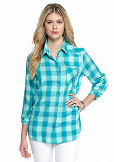 Kensie Plaid Button Down Shirt