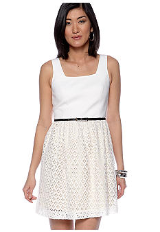 Kensie Geo Lace Dress