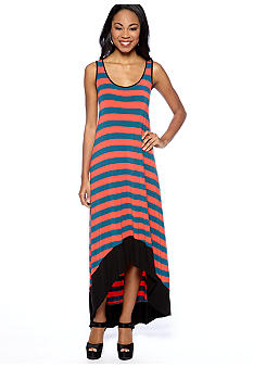 Kensie Stripe Hi Lo Maxi Dress