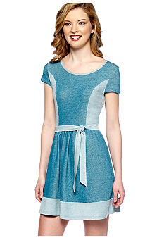 Kensie Denim French Terry Dress