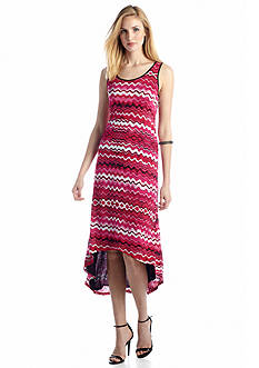 Kensie Drippy Stripes Maxi Dress