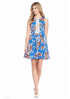 Kensie Floral Fit and Flare Dress