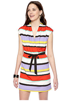 Kensie Stripe Wrap Dress
