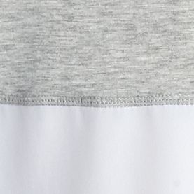 Women's T-shirts: Heather Fog Combo Kensie Colorblock Tee