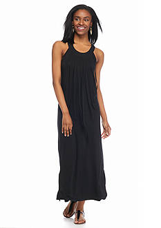 Kensie Fringe Front Maxi Dress