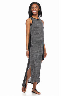 Kensie Striped Side Slit Maxi Dress