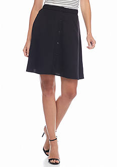 kensie Button Front Skirt