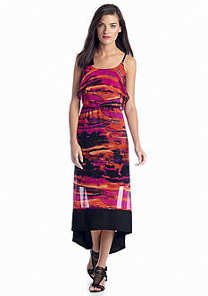 Kensie High-Low Printed Dress