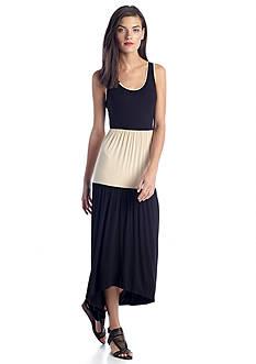 Kensie Colorblock Maxi Dress