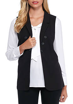 kensie Long Sleeveless Vest