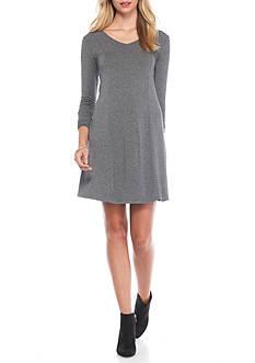 kensie V-Neck Swing Dress