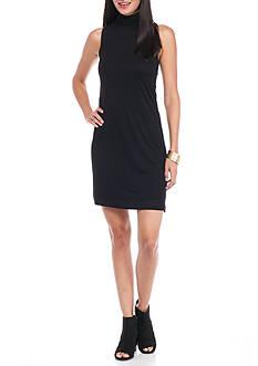 kensie Mock Neck Sleeveless Dress