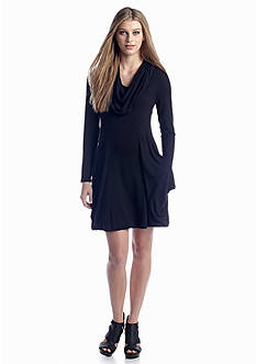 Kensie Drape Front Pocket Dress