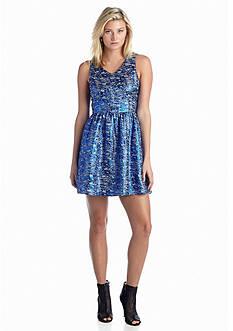 Kensie Lurex Jacquard Dress