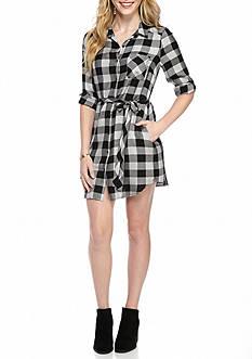 Kensie Plaid Shirt Dress