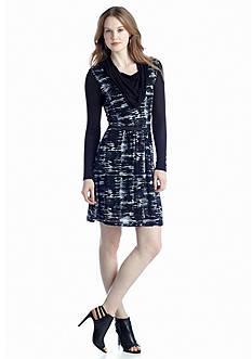 Kensie Broken Stripes Dress