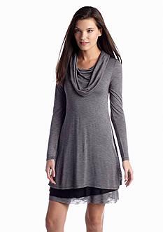 Kensie Streaky Slub Knit Dress