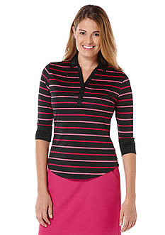PGA TOUR Striped Polo Top